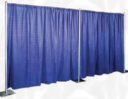 Blue Velour Drape – 16'x4′-0